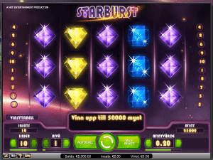 Starburst - En spelautomat hos Thrills